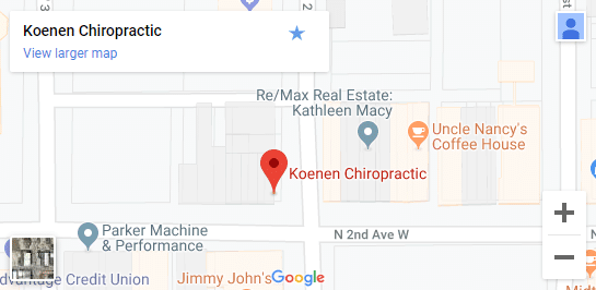 Map of Newton IA Chiropractors